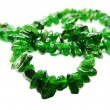 Постер, плакат: Chrome diopside semiprecious beads necklace