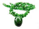 Chrome diopside semiprecious beads necklace — Stok fotoğraf