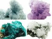 Celestite amethyst diopside rock quartz geode geological crystal — Stockfoto