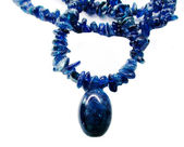 Tourmaline gemstone beads necklace jewelery — Stockfoto