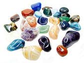Amethyst quartz garnet sodalite agate geological crystals  — Stock Photo