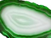 Agate avec crystal géologique de calcédoine — Photo