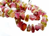 Gioielli di tormalina pietra preziosa perline collana — Foto Stock
