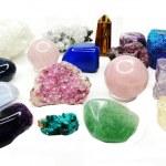 Amethyst quartz garnet sodalite agate geological crystals  — Stock Photo #60128433