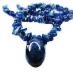 Sapphire gemstone beads necklace jewelery — Stock Photo #60128843