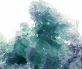 Aquamarine geode geological crystals  — Foto Stock