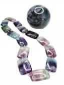 Fluorite semiprecious beads necklace — Stockfoto