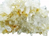 Rock crystal quartz geode geological crystals — Stock Photo