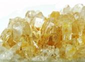 Cristalli geologici del geode citrino — Foto Stock
