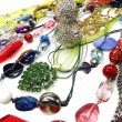 Crystals beads jewellery as fashion background — Stock Photo #70777515