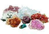 Celestite quartz aragonite vanadinite erythrite geological cryst — Stock Photo
