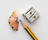 Ołówek i ołówek sharperner — Zdjęcie stockowe