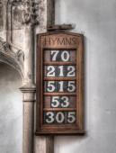 Hymm Board — Stock Photo