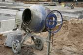 Cement mixer  stand alone — Stock Photo