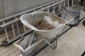 Wheelbarrow for cement — Photo