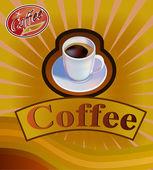 векторная кофейная чашка. меню — Cтоковый вектор