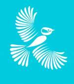 Little bird, vector — Stock Vector
