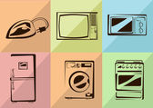 Vector household appliances icons — Stock Vector