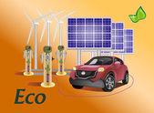 Vector set eco — Stock Vector
