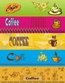 Vector  Banner with coffee — Vetor de Stock
