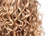 Curly blonde hair — Stock Photo