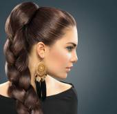 Braide hairstyle. — Foto de Stock