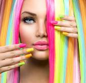 Girl  with Colorful Makeup — Stock Photo