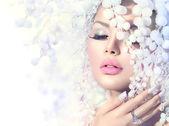 Winter Beauty Model Girl — Stock Photo
