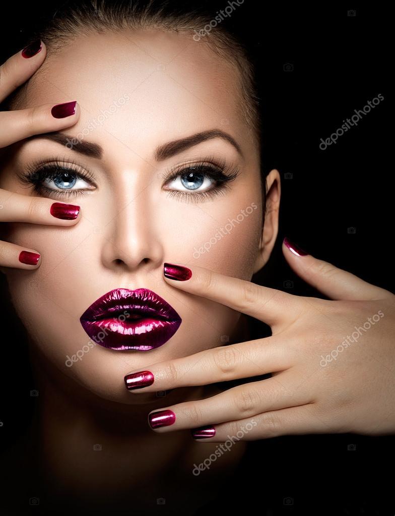 Фото девушек лицо и ногти