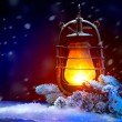 Burning Old Styled lantern — Stock Photo #59944121