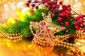 рождественские фенечки и украшения — Стоковое фото