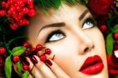 Christmas Winter Woman. — Stock Photo