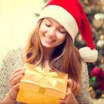Girl With Christmas Gift Box — Stock Photo #60807961