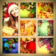 Christmas collage with Girl — Stock Photo #60807975