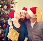 Christmas family portrait. — Stock Photo