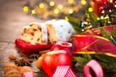 Christmas sweet Stollen — Stock Photo