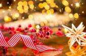 Christmas decorations on background — Stock Photo