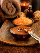 Chocolate spa treatment — Stock Photo