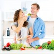 Couple Cooking Together — Stock Photo #61540029
