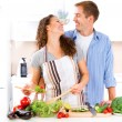 Couple Cooking Together — Stock Photo #61540235