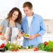 Couple Cooking Together — Stock Photo #61541049