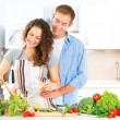 Couple Cooking Together — Stock Photo #61541193
