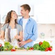 Couple Cooking Together — Stock Photo #61541415