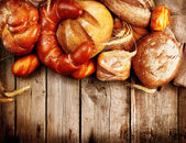 Various Bread and Sheaf — Stock Photo