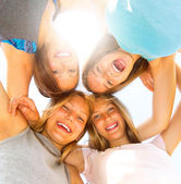 Group of teen girls having fun — Stock Photo