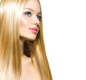 Beautiful Blond Girl — Stock Photo