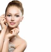 Beauty Model Girl Portrait. — Stock Photo