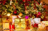 Gifts under the Christmas tree — Fotografia Stock