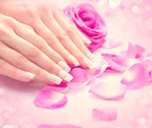 Female hands,  Hands spa. — Stock Photo