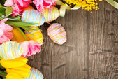 Beautiful Easter holiday  frame — Stock Photo
